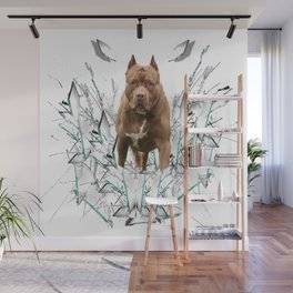 car stickers pitbull gift shirt dog Wall Mural