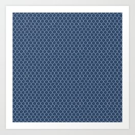Chicken Wire Navy Art Print