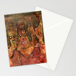Zombies in a Red Dawn Apocalypse Stationery Cards