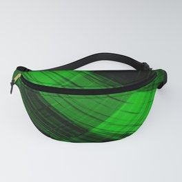 Iridescent arcs of malachite curtains of hanging flowing lines on velvet fabric.  Fanny Pack