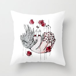 Dreaming pomegranate Throw Pillow