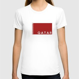 Qatar country flag name text T-shirt
