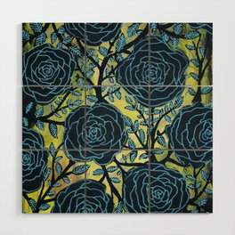 Black and Blue Wood Wall Art