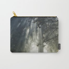 Smoke and Sun Filtered Through a Fir Tree Carry-All Pouch