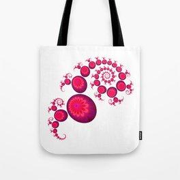 Pretty Pink Paisley on White Tote Bag