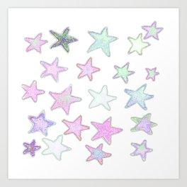 Funky Pastel Stars! Art Print