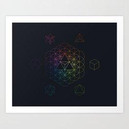 From the void full spectrum Art Print