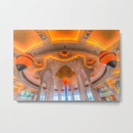 Atlantis Palm Hotel Ceiling Metal Print