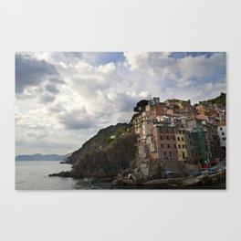 A taste of color and culture in Cinque Terre Canvas Print