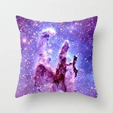 Galaxy Nebula : Pillars of creation Throw Pillow