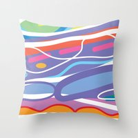 san diego Throw Pillows featuring San Diego by charker