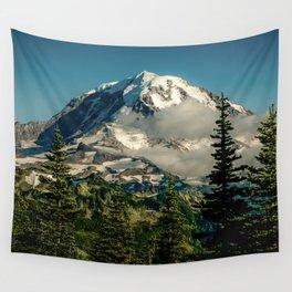 Mountain, Scenic, Mt. Rainier Wall Tapestry