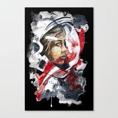 cosmonaut portrait by carographic Canvas Print