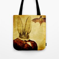 bat man Tote Bags featuring Bat-Man by Joe Ganech