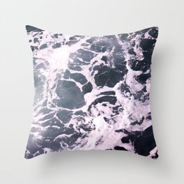 Marbled Waves Throw Pillow
