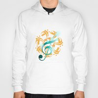 music notes Hoodies featuring Music Notes  by HK Chik