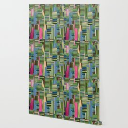 Painted Paper Collage Wallpaper