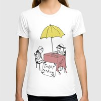 tarot T-shirts featuring Tarot Reader by hannah koslosky