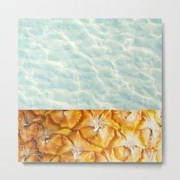Pool and pineapple Metal Print