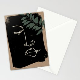Roman's Face Abstract Line Work with Farn Stationery Cards
