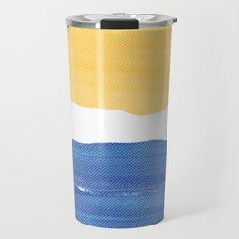 Contrast Halftone Travel Mug