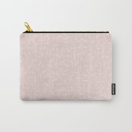 Pale Pink Abstract Pattern Carry-All Pouch