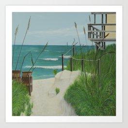 JUPITER BEACH Art Print