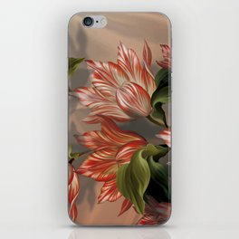 """Coral flowers on white silk"" (Air Spring) iPhone Skin"