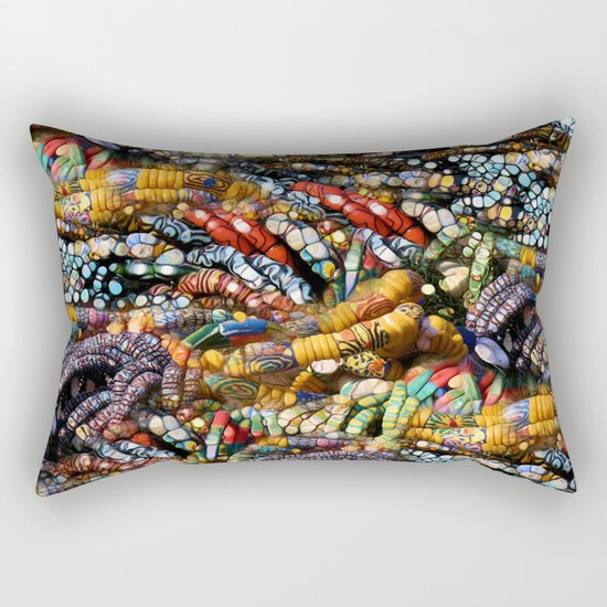 gems, beads, prayers Rectangular Pillow