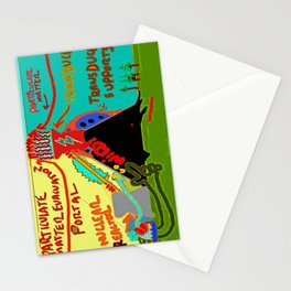 Particulate Matter Evacuation Portal Deluxe Stationery Cards
