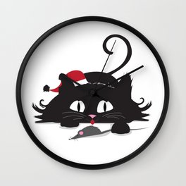 Playful cat Wall Clock