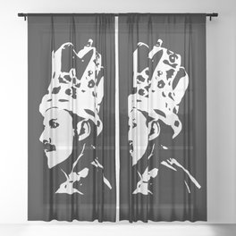 Freddy the White Queen Sheer Curtain