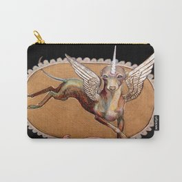 Kermit the Silver Unicorn Carry-All Pouch