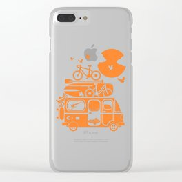 Funny family vacation camper Clear iPhone Case