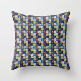 Multicolored Patchwork Throw Pillow