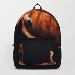 Girl Holding A Pumpkin 2 Backpack