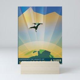 NASA Retro Space Travel Poster #6 Mini Art Print