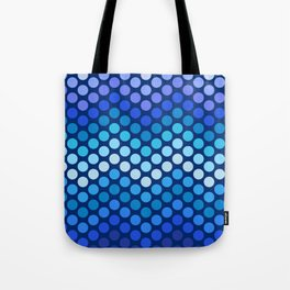Dot Chevron: Blue violet Tote Bag