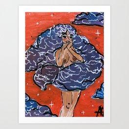 Cloud Goddess Art Print