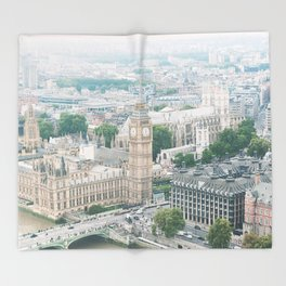 London Skyline Travel Photography Throw Blanket