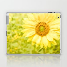 Smiling sunflower Laptop & iPad Skin