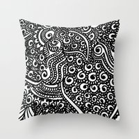 henna Throw Pillows featuring Henna me  by Designs by NN