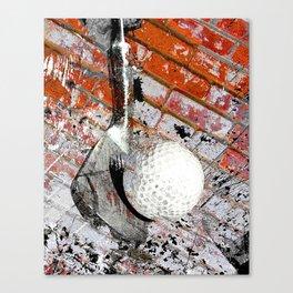 Modern Golf Art 3 Canvas Print