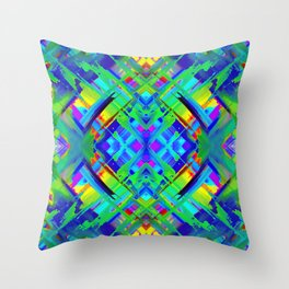 Colorful digital art splashing G476 Throw Pillow