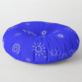 Snowflakes seamless pattern, textile, surface pattern Floor Pillow