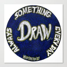 DRAW | Motivational Mandala Canvas Print