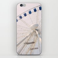 ferris wheel iPhone & iPod Skins featuring Ferris Wheel by Pati Designs