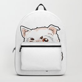 West Highland White Terrier Westie Dog Doggie Pup Backpack
