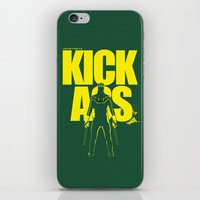 ass iPhone & iPod Skins featuring KICK ASS by justjeff