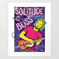tame impala Art Prints featuring Solitude is Bliss - Tame Impala by JT.Camargo